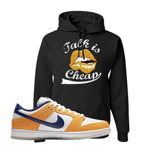 SB Dunk Low Laser Orange Hoodie | Black, Talk is Cheap