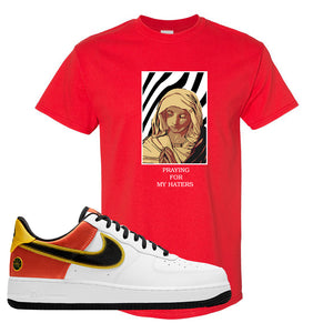 Air Force 1 Low Roswell Rayguns T Shirt | God Told Me, Red