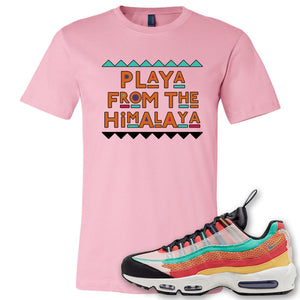 Air Max 95 Black History Month Sneaker Soft Pink T Shirt | Tees to match Nike Air Max 95 Black History Month Shoes | Playa From The Himalaya