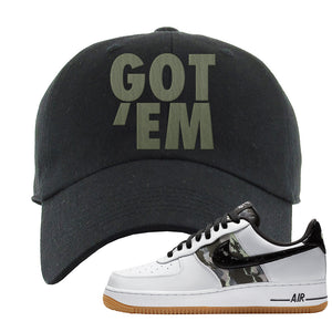 Air Force 1 Low Camo Dad Hat | Got Em, Black