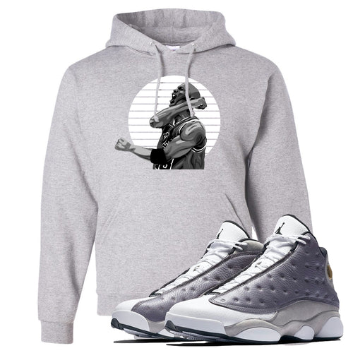 Jordan 13 Atmosphere Grey Jordan Scream Light Gray Hoodie