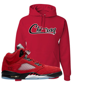 Air Jordan 5 Raging Bull Hoodie | Chiraq, Red