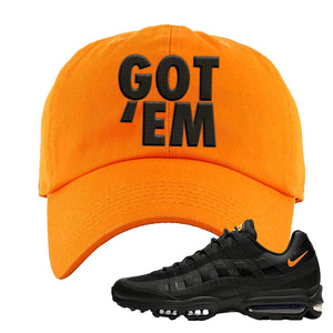 Air Max 95 Ultra Spooky Halloween Dad Hat | Got Em, Orange