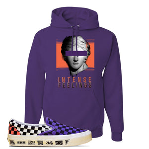 Vans Slip On Venice Beach Pack Hoodie | Deep Purple, Intense Feelings