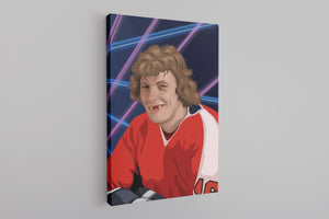Bobby Clarke Canvas | Bobby Clarke Class Photo Black Wall Canvas the front of this canvas has bobby clarke's class photo