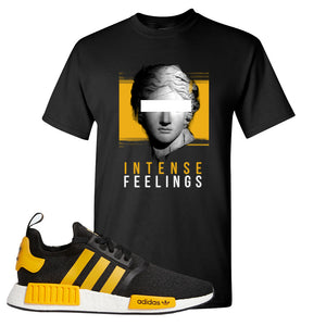 NMD R1 Active Gold T Shirt | Black, Intense Feelings