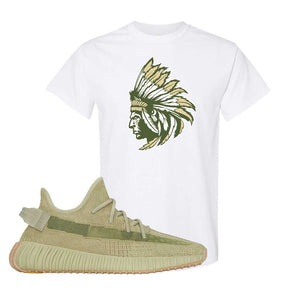Yeezy 350 v2 Sulfur T Shirt | White, Indian Chief