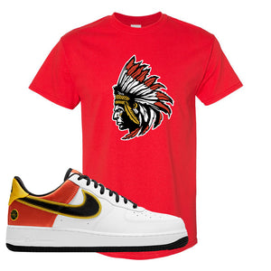 Air Force 1 Low Roswell Rayguns T Shirt | Indian Chief, Red
