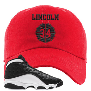 Jordan 13 Reverse He Got Game Dad Hat | Red, Lincoln 34
