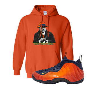 Foamposite One OKC Hoodie | Orange, Capone Illustration
