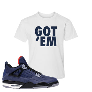 Jordan 4 WNTR Loyal Blue Got Em White Sneaker Hook Up Kid's T-Shirt