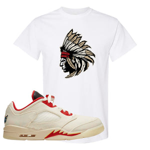 Air Jordan 5 Low Chinese New Year 2021 T Shirt | Indian Chief, White