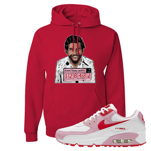 Air Max 90 Love Letter Hoodie | Escobar Illustration, Red