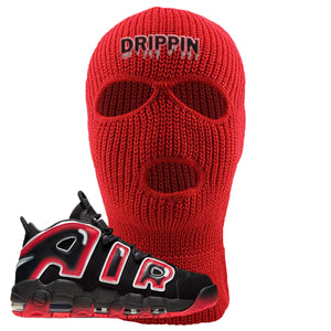 Air More Uptempo Laser Crimson Ski Mask | Red, Drippin