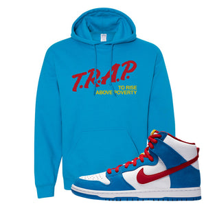 SB Dunk High Doraemon Hoodie | Trap To Rise Above Poverty, Sapphire