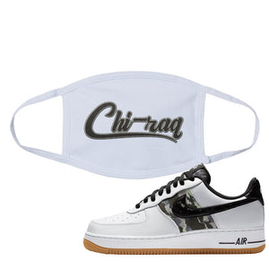 Air Force 1 Low Camo Face Mask | Chiraq, White