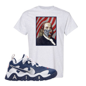 Air Barrage Low USA T Shirt | Ash, Franklin Mask