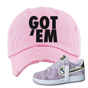 Air Force 1 P[her]spective Distressed Dad Hat | Pink, Got Em