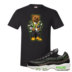 Air Max 95 Black / Electric Green T Shirt | Sweater Bear, Black