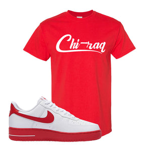 Air Force 1 Low Red Bottoms T Shirt | Red, Chiraq