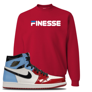 Air Jordan 1 Fearless Finesse Red Made to Match Crewneck Sweatshirt