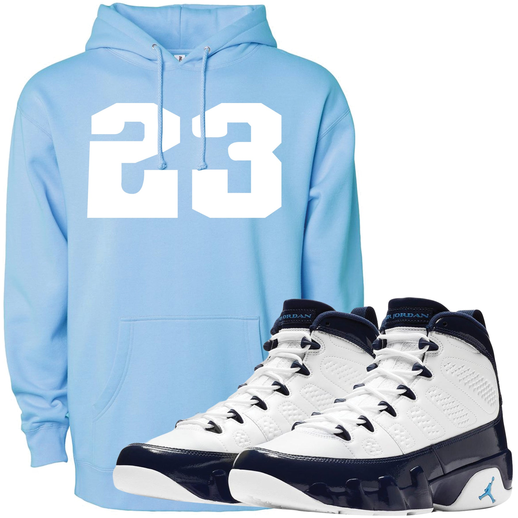 big sale 1518f dd3c0 Wear your Jordan 9 All Star UNC Blue Pearl sneaker matching hoodie to match  your pair