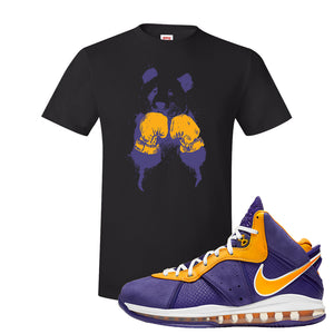 Lebron 8 Lakers T Shirt | Boxing Panda, Black