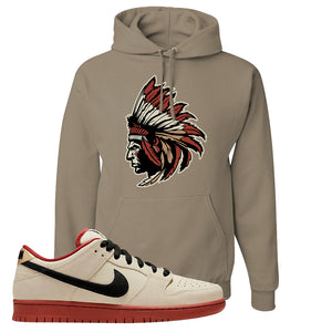 SB Dunk Low Muslin Hoodie | Indian Chief, Khaki