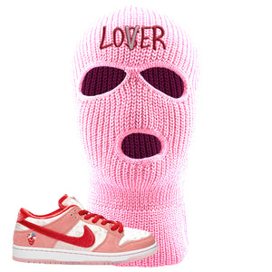 SB Dunk Low 'StrangeLove' Matching Sneaker Ski Mask | StrangeLove x Nike | Lover, Light Pink