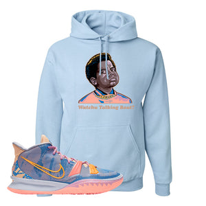 Kyrie 7 Expressions Hoodie | Watchu Talkin Bout, Light Blue