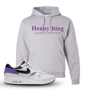 Air Max 1 DNA Series Sneaker Ash Pullover Hoodie | Hoodie to match Nike Air Max 1 DNA Series Shoes | Hennything Can Happen