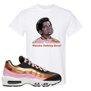 Air Max 95 WMNS Copper and Gold T Shirt | Watchu Talkin Bout, White