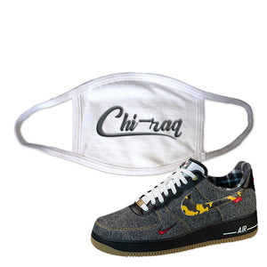Air Force 1 Low Plaid And Camo Remix Pack Face Mask | Chiraq, White