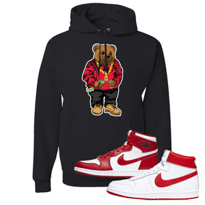 Jordan 1 New Beginnings Pack Sneaker Black Pullover Hoodie | Hoodie to match Nike Air Jordan 1 New Beginnings Pack Shoes | Biggie Bear