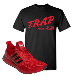 Ultra Boost 1.0 Nebraska T-Shirt | Trap To Rise Above Poverty, Black