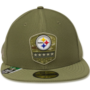Pittsburgh Steelers 2019 Salute To Service On Field 59Fifty Fitted Cap