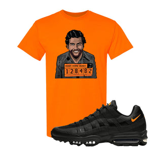 Air Max 95 Ultra Spooky Halloween T Shirt | Escobar Illustration, Safety Orange