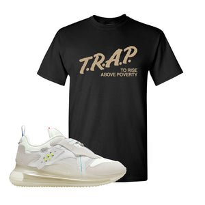 Air Max 720 OBJ Slip White T Shirt | Black, Trap To Rise Above Poverty