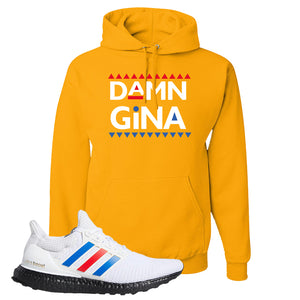 Ultra Boost White Red Blue Hoodie | Gold, Damn Gina