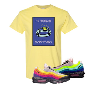 Airmax 95 '20 For 20' Sneaker Cornsilk T Shirt | Tees to match Nike Airmax 95 '20 For 20' Shoes | No Pressure No Diamond