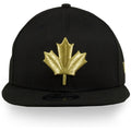 Toronto Raptors 2019 NBA City Series Metallic Gold Leaf Black 9Fifty Snapback Hat