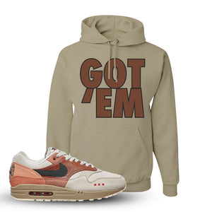 Air Max 1 Amsterdam City Pack Sneaker Khaki Pullover Hoodie | Hoodie to match Nike Air Max 1 Amsterdam City Pack Shoes | Got Em