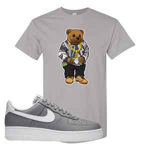 Air Force 1 Low Wolf Grey White T Shirt | Gravel, Sweater Bear