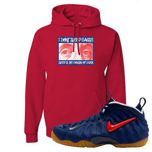Air Foamposite Pro USA Hoodie | Red, Franklin Eyes