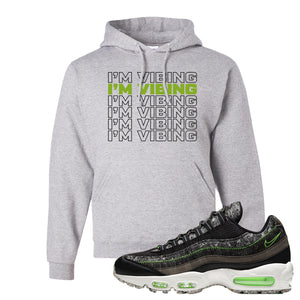 Air Max 95 Black / Electric Green Hoodie | I'm Vibing, Ash