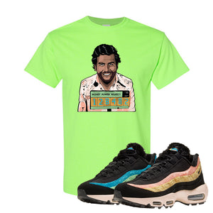 Air Max 95 Sergio Lozano T Shirt | Escobar Illustration, Neon Green