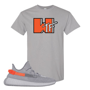 Yeezy Boost 350 V2 Tail Light Sneaker Gravel T Shirt | Tees to match Adidas Yeezy Boost 350 V2 Tail Light Shoes | WTF