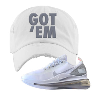 Air Max 720 Utility White Distressed Dad Hat | White, Got Em