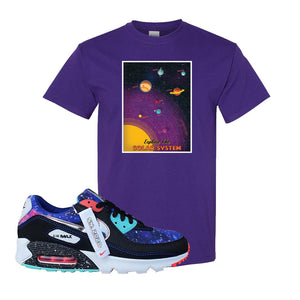 Air Max 90 Galaxy T Shirt | Purple, Vintage Space Poster
