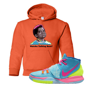 Kyrie 6 Pool Hoodie | Orange, Watchu Talkin Bout